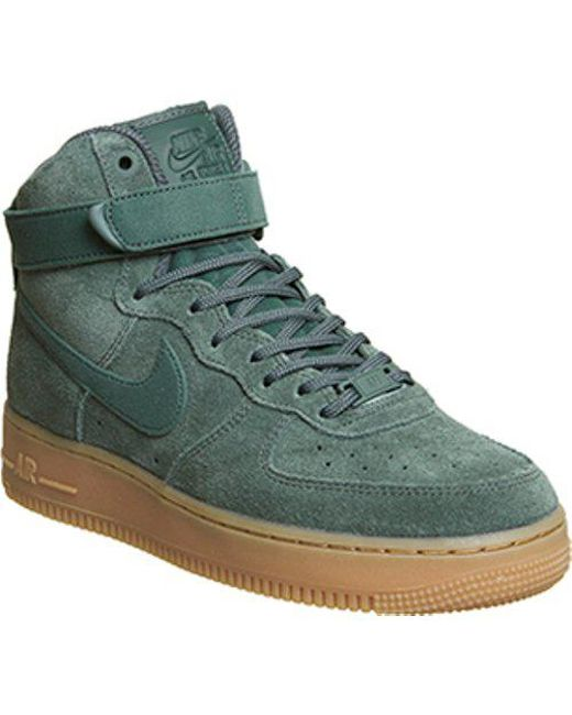 Lyst - Nike Air Force 1 Hi in Green for Men 83a3c3a42