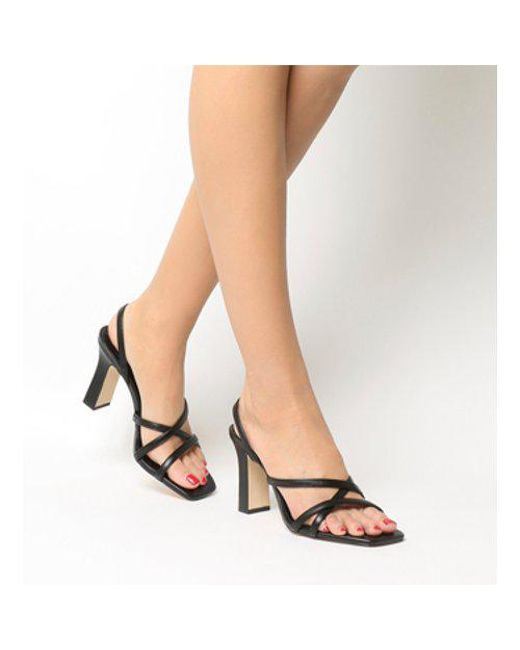 e8153671914 Office Mariah Square Toe Strappy Sandal in Black - Lyst
