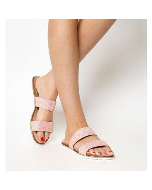 62b096d2caf6 Office Sicily Double Strap Sandal Nt in Pink - Lyst