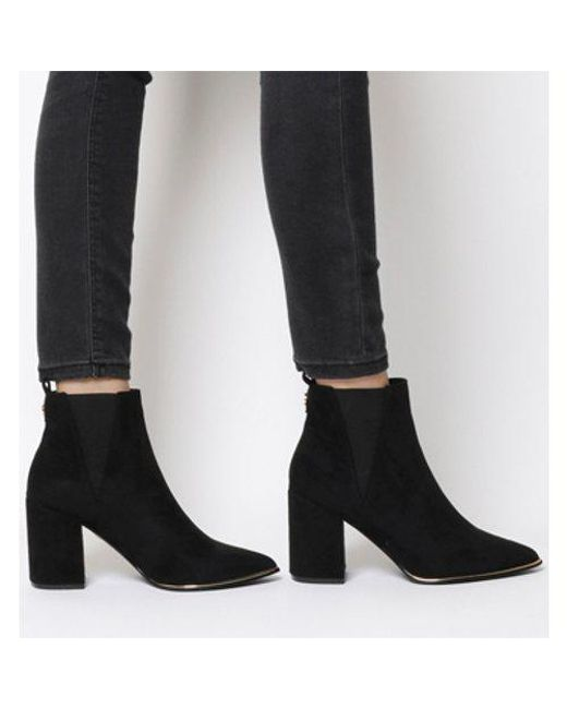b83b729937f7 Office Amazing- Block Heel Point Ankle Boot 2 in Black - Lyst