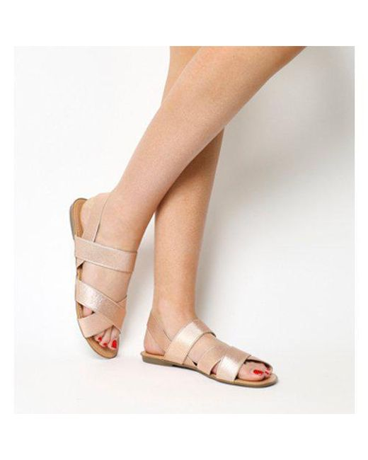 Office - Multicolor Skippy- Elastic Cross Strap Sandal - Lyst