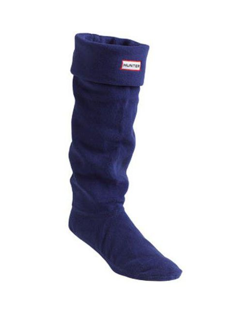 Hunter - Blue Fleece Welly Sock for Men - Lyst