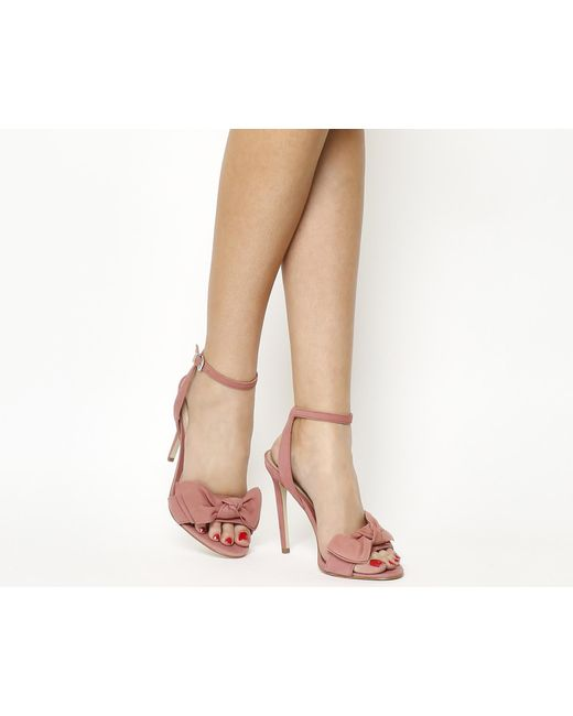 Office | Pink Harmony Bow Trim Sandals | Lyst