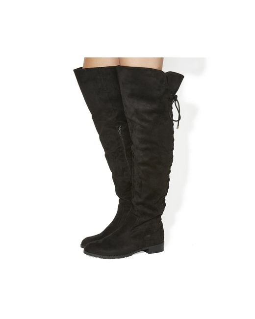 Office   Black Knockout Over The Knee Boots   Lyst