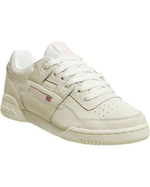 Reebok Workout Plus L in White for Men - Lyst 95d26eede