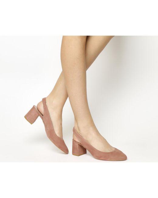 Office | Pink Marvellous Slingback Block Heels | Lyst