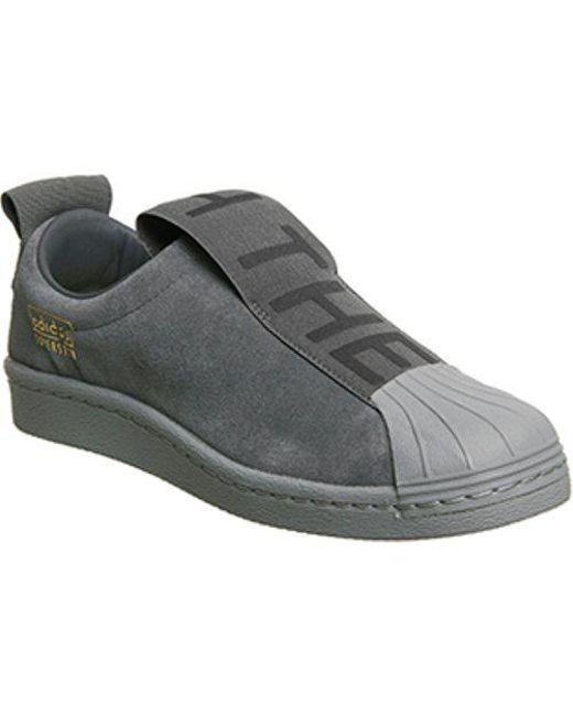 Super Star Bw35 Suede Slip-on Sneakers - Dark gray adidas Originals TSza7xenyL
