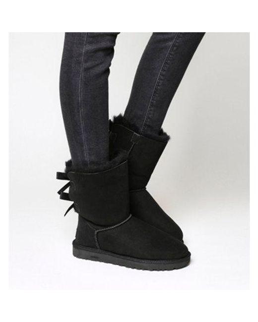 Ugg Black Bailey Bow Ii Calf Boots Lyst