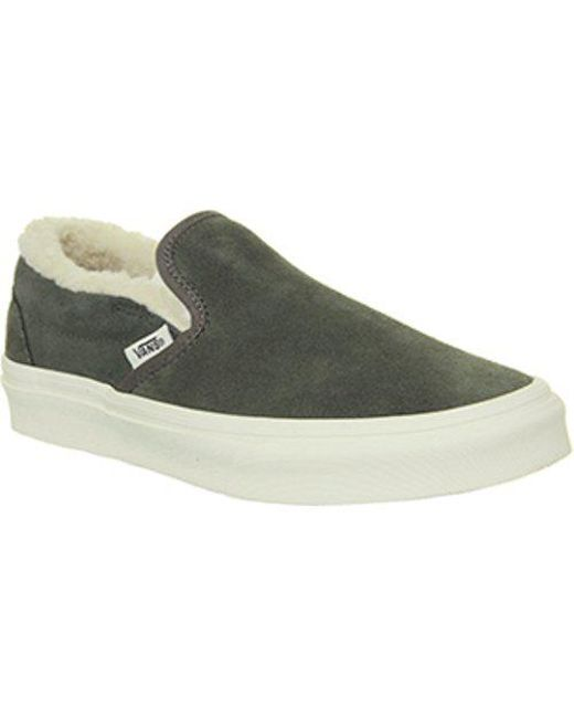 5a90374b84 Lyst - Vans Classic Slip On in Green