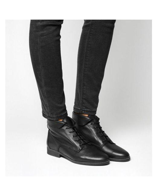 Office - Black Alice- Lace Up Vintage Boot - Lyst