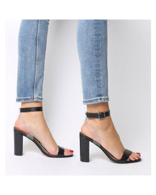 6a47095524 Lyst - Office Hexagon Single Sole Sandals in Black