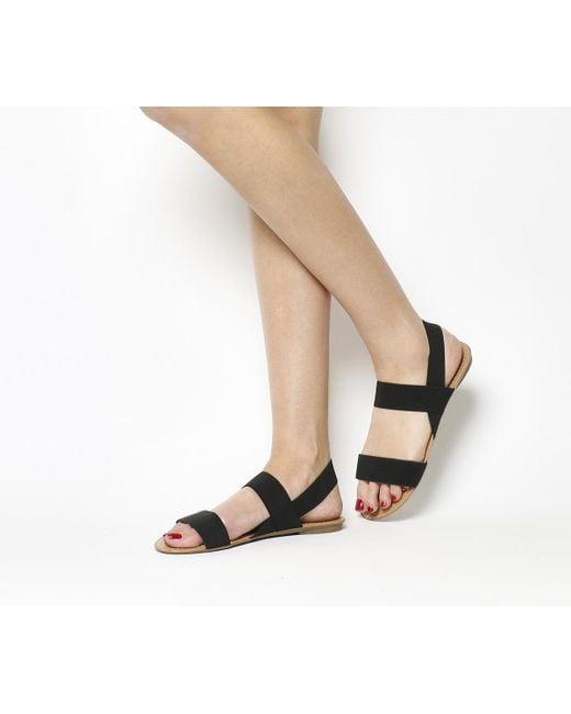 Office | Black Swift Elastic Sandals | Lyst