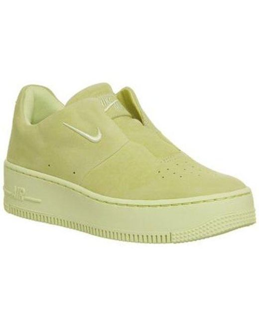 425beb654a1b Nike Air Force 1 Sage in Yellow - Lyst