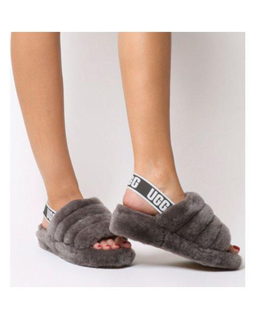 aa9b686031b UGG Fluff Yeah Slides in Gray - Save 32% - Lyst