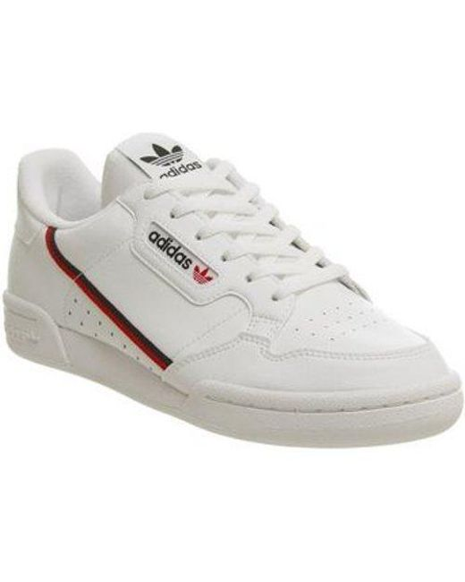 b740bef46fd64 Lyst - adidas Continental 80 Sneakers in White - Save 37%