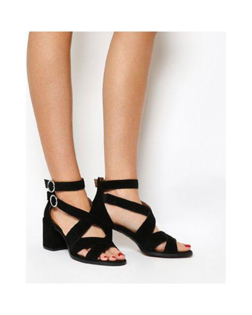 48c0a064091 Office Market Cuff Block Heel Sandal in Black - Lyst