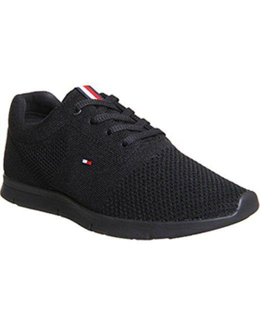 Tommy Hilfiger - Black Premium Flyknit Sneaker for Men - Lyst