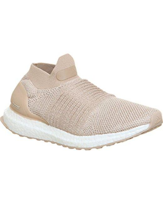 0aaa46b537f1a Adidas Ultra Boost Laceless F in Natural - Lyst