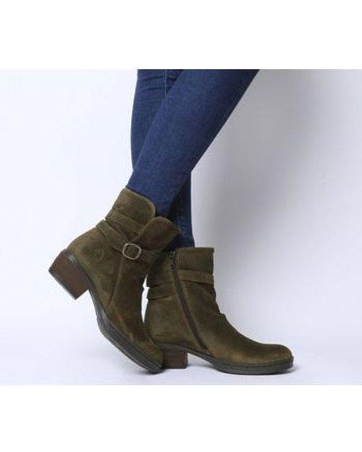 Fly London - Brown Cimp Buckle Boot - Lyst