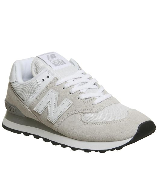 New Balance - White 574 Trainers - Lyst