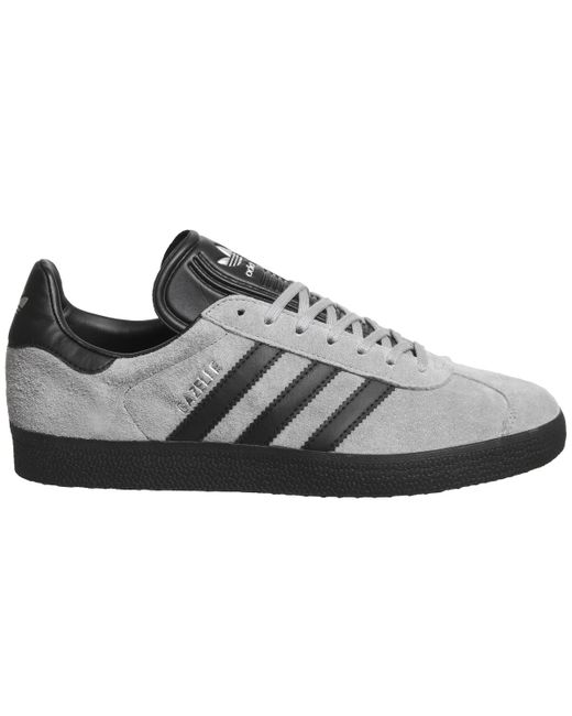 buy popular e004b 5ba63 ... Adidas - Gray Gazelle Trainers - Lyst ...