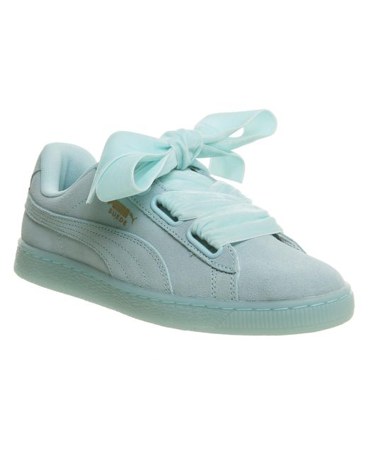 PUMA - Blue Suede Heart Trainers - Lyst