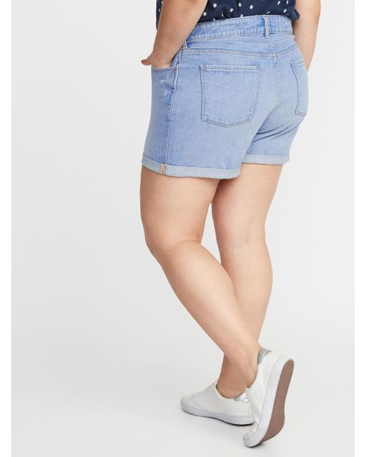 8f1ac6ed92 ... Old Navy - Blue Plus-size Boyfriend Denim Shorts - Lyst
