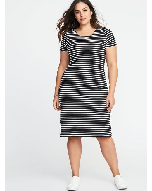 Lyst Old Navy Relaxed Plus Size Midi Tee Dress In Black