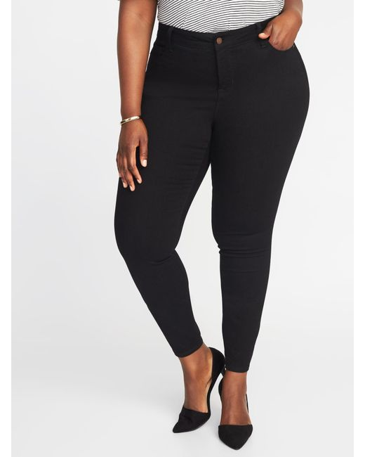6117743ae16 Lyst - Old Navy Plus-size High-rise Rockstar Super Skinny Jeans in Black