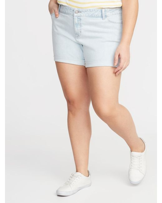 e047e4c915 Old Navy - Blue Boyfriend Plus-size Denim Shorts - Lyst ...