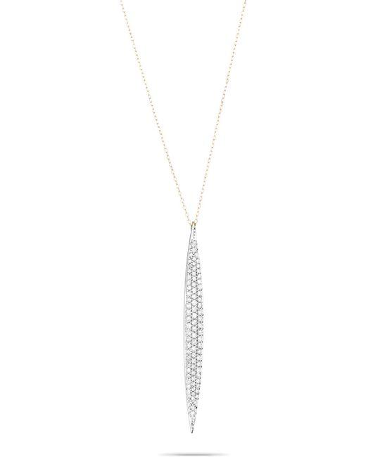 Adina Reyter - Metallic Large Pavé Marquise Necklace - Lyst