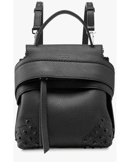 Tod's - Black Mini Wave Backpack - Lyst