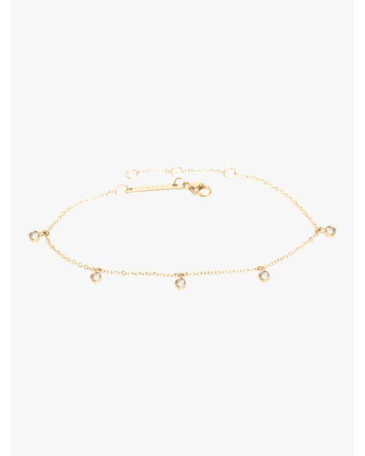 Zoe Chicco - Metallic Bezel Diamond Dangle Bracelet - Lyst
