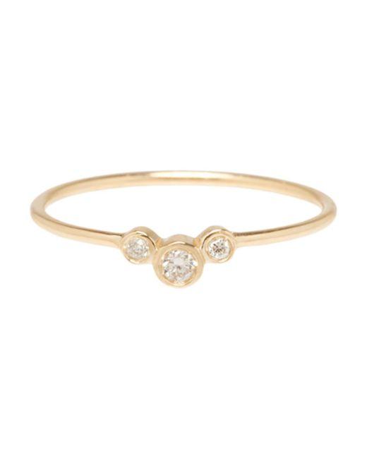 Zoe Chicco - Metallic Bezel Diamond Graduated Ring - Lyst
