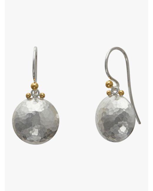 Gurhan - Metallic Medium Lentil Drop Earrings - Lyst