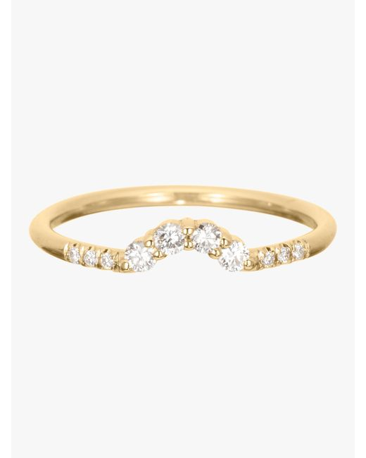 Jennie Kwon - Metallic Diamond Arch Ring - Lyst