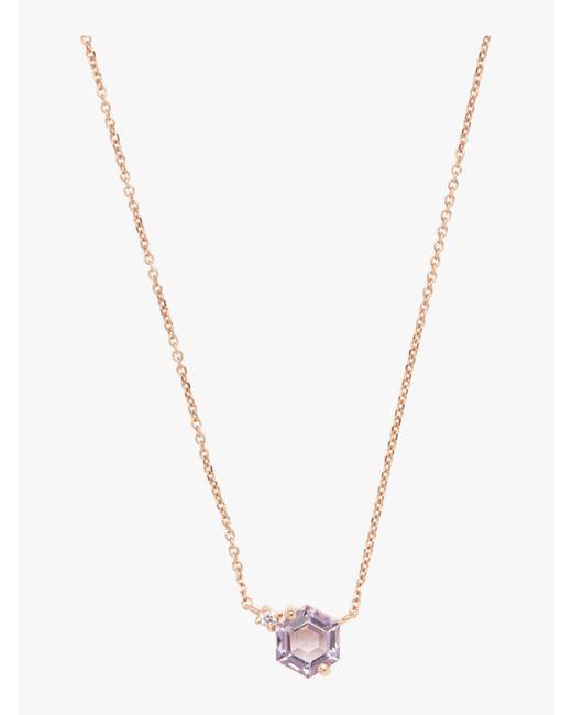 KALAN by Suzanne Kalan - Multicolor Hexagon Rose De France Necklace - Lyst