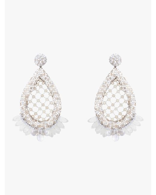 Deepa Gurnani - Metallic Opal Earrings - Lyst