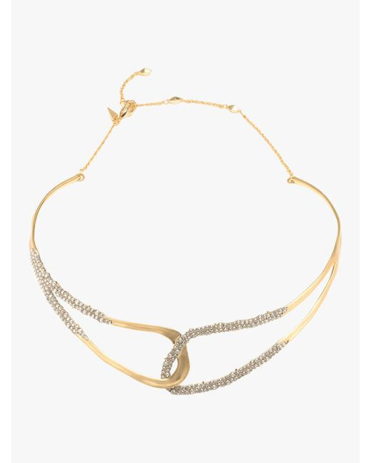 Alexis Bittar - Metallic Crystal Freeform Collar Necklace - Lyst