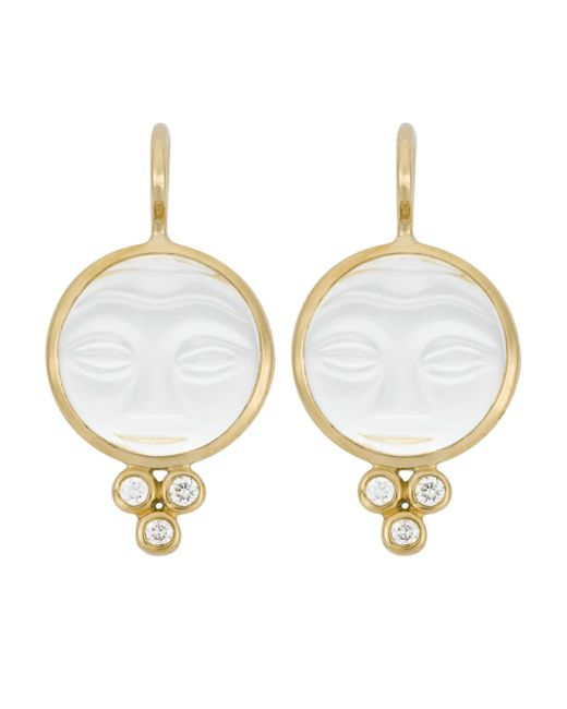 Temple St. Clair - Multicolor Double Drop Earrings With Diamond - Lyst