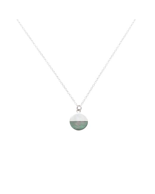 7d878134e224f Oliver Bonas - Metallic Lyca Mother Of Pearl Circle Silver Necklace - Lyst  ...