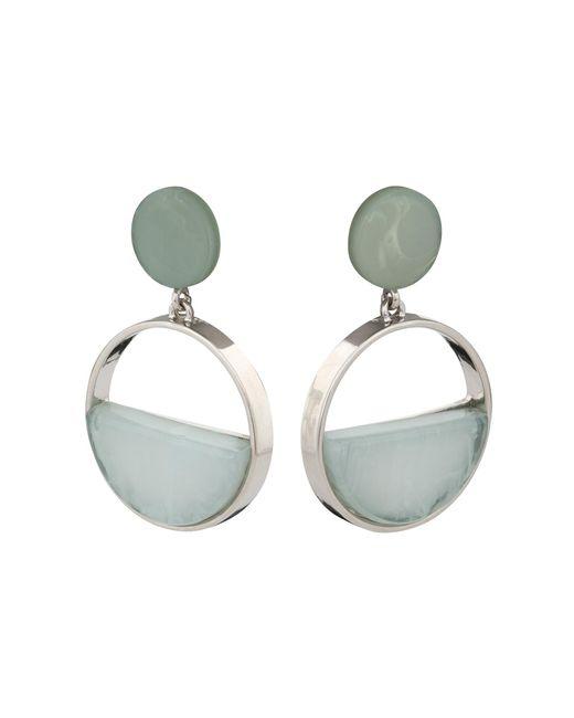 Oliver Bonas - Green Gertrude Oversized Round Drop Earrings - Lyst