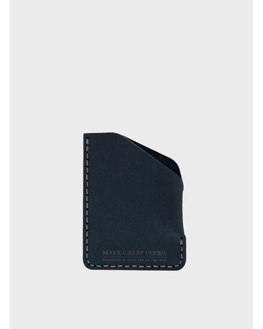 Makr   Blue Navy Matte Angle Wallet for Men   Lyst