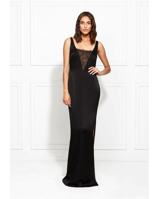 a78697a0c1c Rachel Zoe - Black Caine Satin-backed Crepe Gown - Lyst ...