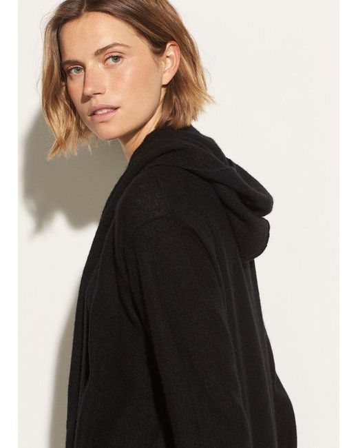 Vince - Black Hooded Cashmere Cardigan - Lyst