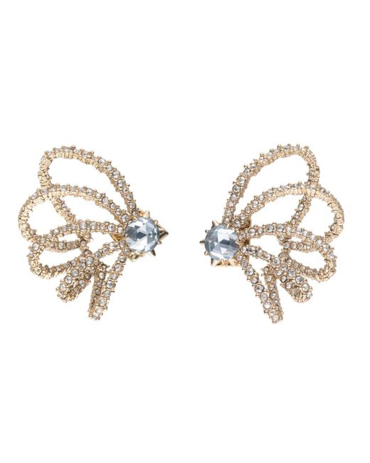 Alexis Bittar - Metallic Crystal Lace Orbiting Post Earring - Lyst