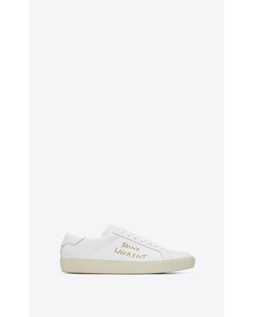 94e31ce06dab Lyst - Saint Laurent Court Classic Sneakers in White for Men - Save 20%