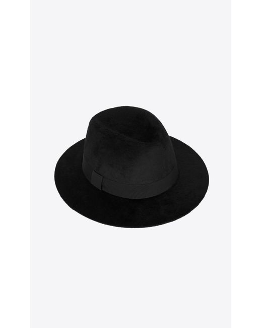 Saint Laurent Black Fedora