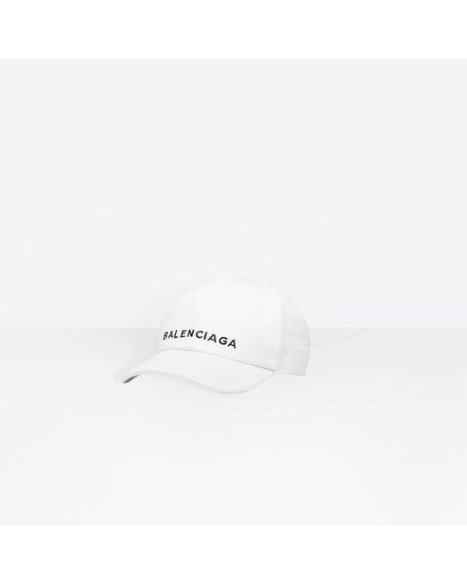 8b13bce11f0 Lyst - Balenciaga Embroidered Logo Cap in White - Save 25%