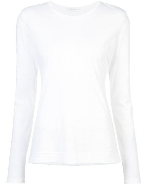 Adam Lippes - White Pima Cotton Long Sleeve Crewneck T-shirt - Lyst